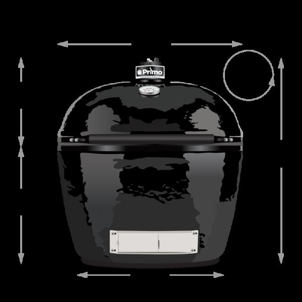 Primo oval 300large Keramik Grill - Masse