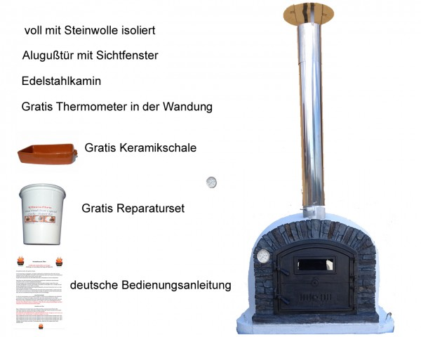 Steinbackofen VenturaBlackAL100