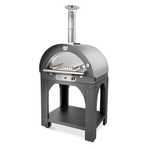 Clementi mobiler Pizzabackofen Pulcinella Inox-Gas PULCINELLAGASTINOX
