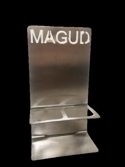 Edelstahl Ölflaschenhalter für 4x100ml Flaschen MAGUD-Öle magud_halter_4x100
