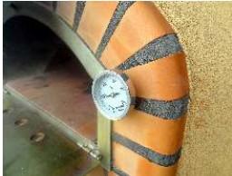 Wandthermometer für Steinbacköfen