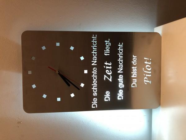 personalisierte Uhr Zeitpilot