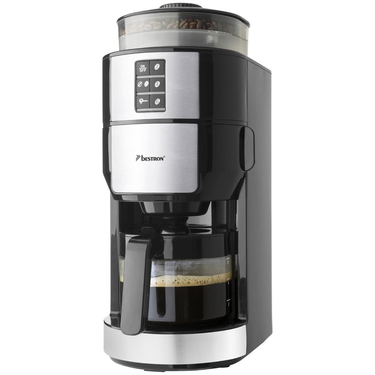Bestron Kaffeemaschine mit Mahlwerk für 2-6Tassen ACM1100G