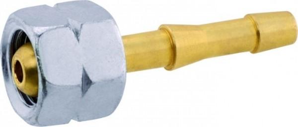 Gas-Verbindungsstück mit Tülle Grösse:G 1/4 LH-ÜM x 9 mm Tülle