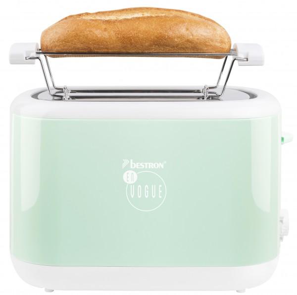 Toaster für 2Scheiben Brot - mint - Brötchenaufsatz