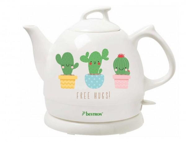 Keramik Wasserkocher von Bestron im Kaktus-Design