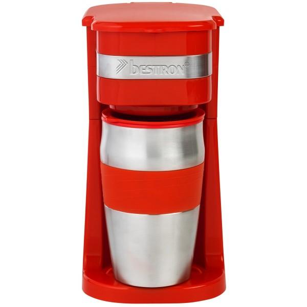 Persönliche Kaffeemaschine mit Edelstahl-Tasse - rot