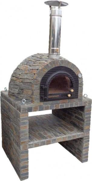 Steinbank für Holzbacköfen
