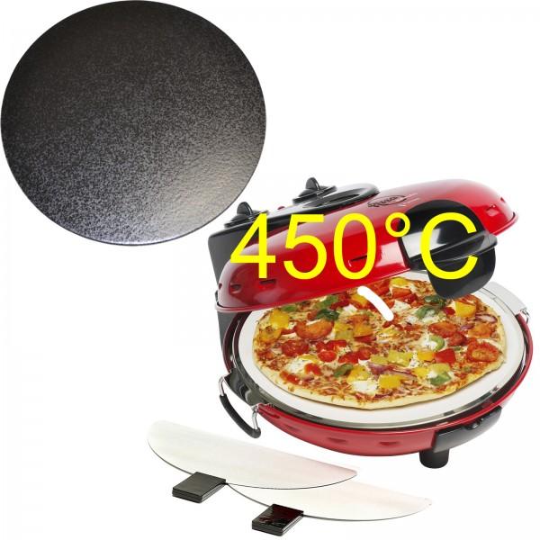 Pizzaofen DLD9070 mit glasiertem Stein und Tuningset