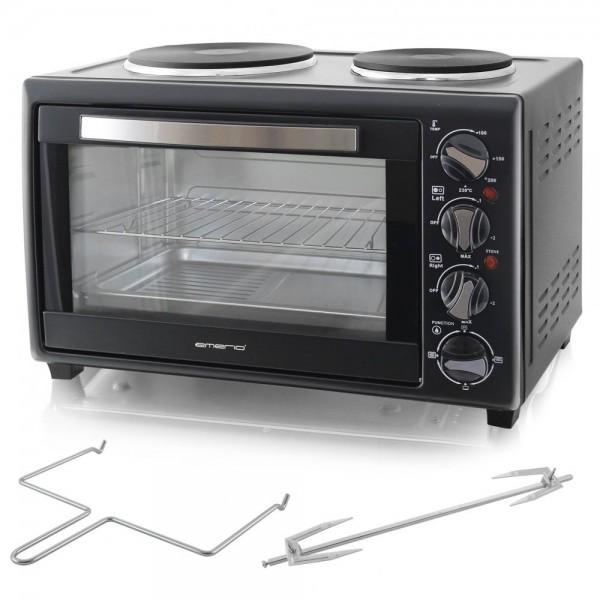 Miniküche mit 2 Kochplatten und 30Liter Backofen