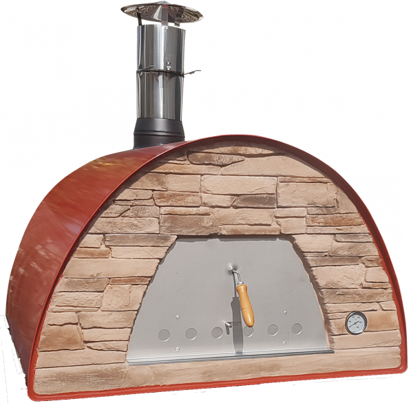 mobiler Holzbackofen Maximus Prime Arena rot Front