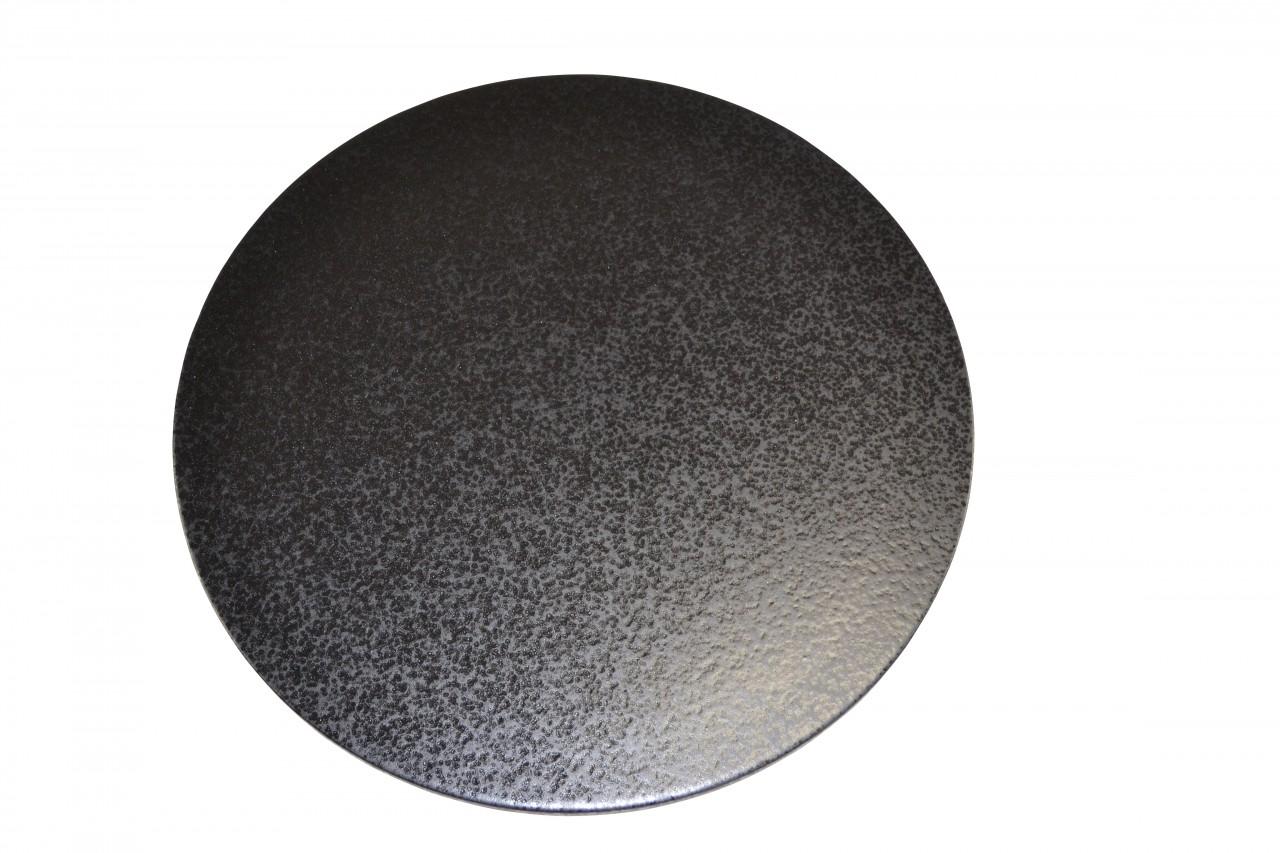 Megrill 380x10mm Pizzastein, Heißer Stein, Grillstein aus glasiertem Cordierit p380