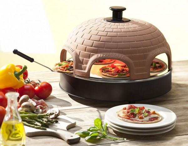 Pizzarette stone mit Terracotta-Kuppel und Stein