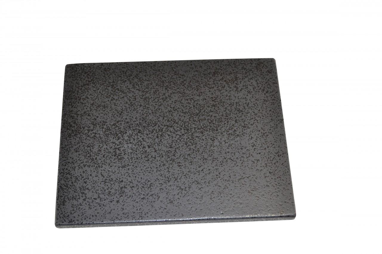 Megrill 375x300mm Pizzastein, Grillstein, Brotbackstein aus glasiertem Cordierit P41-20