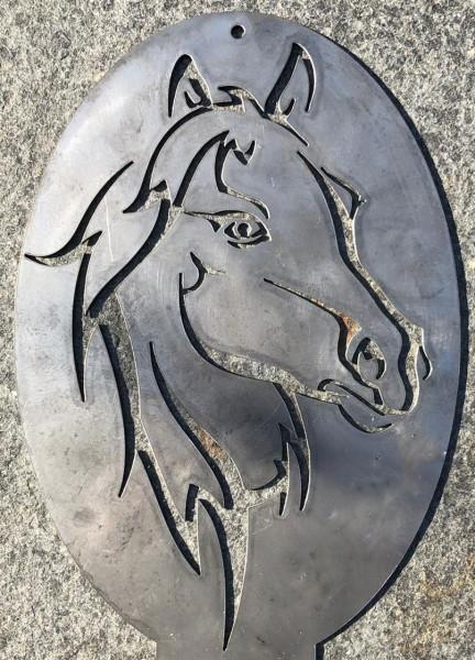Pferdekopf - cortenstahl