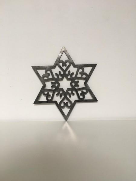 Stern aus Cortenstahl