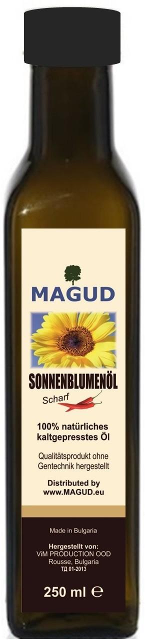 magud kaltgepresstes Sonnenblumenöl - scharf 250ml magud-11214