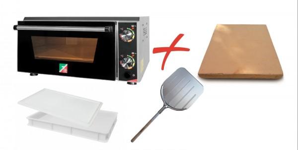 EffeUno P134H mit Biscotto, Teigbehälter und Pizzaschaufel