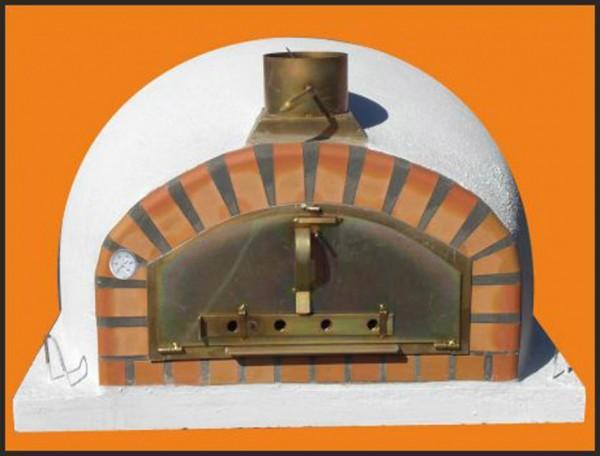 Steinbackofen Pizzaioli mit einer zusätzlichen Isolierung, damit die Hitze im Ofen noch länger hält.